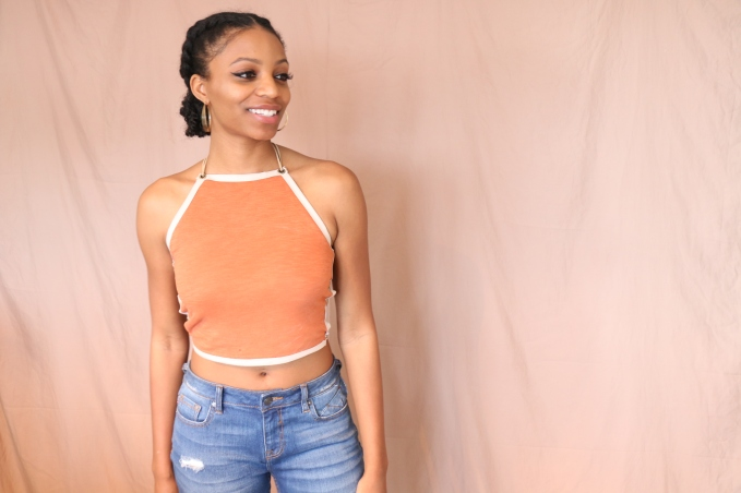 DIY Lace Up Halter Top Miaira Jennings