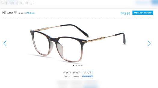 Firmoo glasses black brown ombre