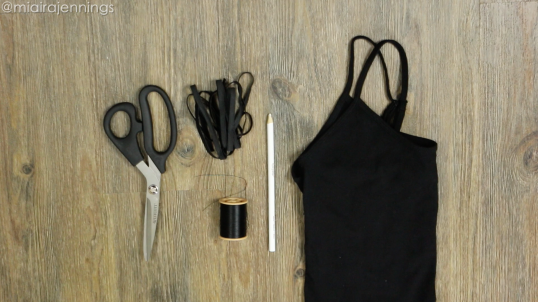 DIY strappy tank top materials