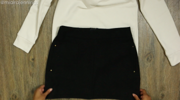 DIY Crop Top Hoodie and Skirt Set No Sewing - Step 2