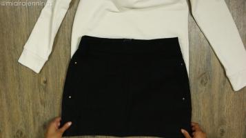 DIY Crop Top Hoodie and Skirt Set No Sewing - Step 2