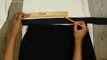 DIY Crop Top Hoodie and Skirt Set No Sewing - Step 2-2