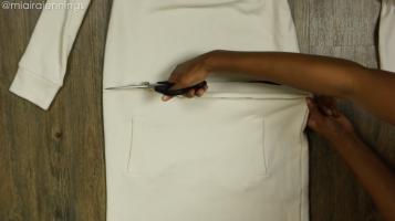 DIY Crop Top Hoodie and Skirt Set No Sewing - Step 2-3