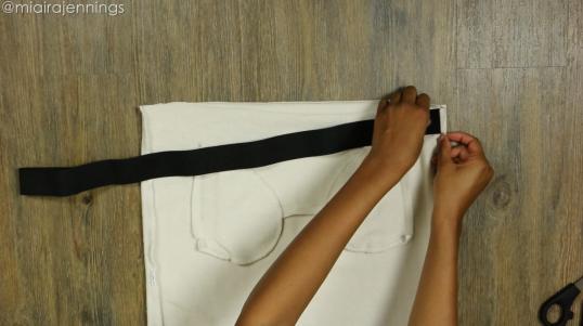 DIY Crop Top Hoodie and Skirt Set No Sewing - Step 3