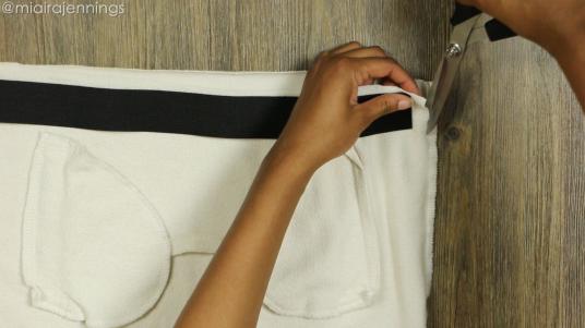 DIY Crop Top Hoodie and Skirt Set No Sewing - Step 3-2