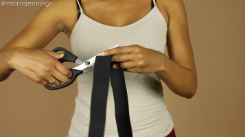 DIY Crop Top Hoodie and Skirt Set No Sewing - 4-3
