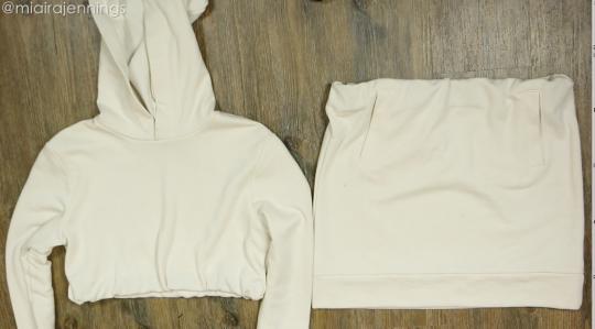 DIY Crop Top Hoodie and Skirt Set No Sewing - 5.4