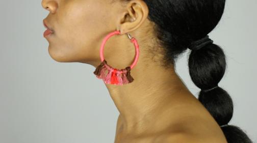 DIY Tassel Hoop Earrings