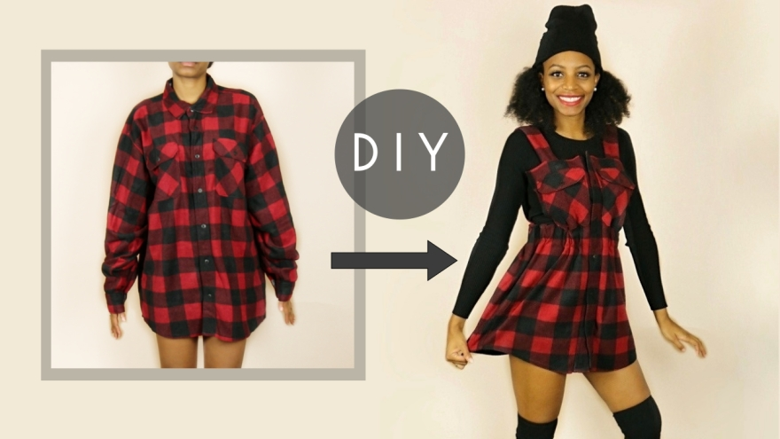 DIY Overall Dress No Sewing